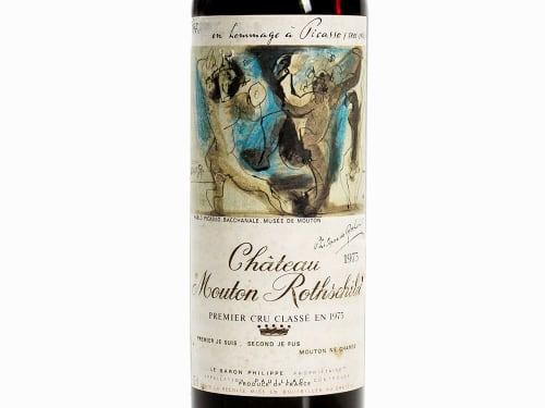 after Pablo Picasso  -  Chateau Mouton Rothschild, Premier Cru Classe en 1973