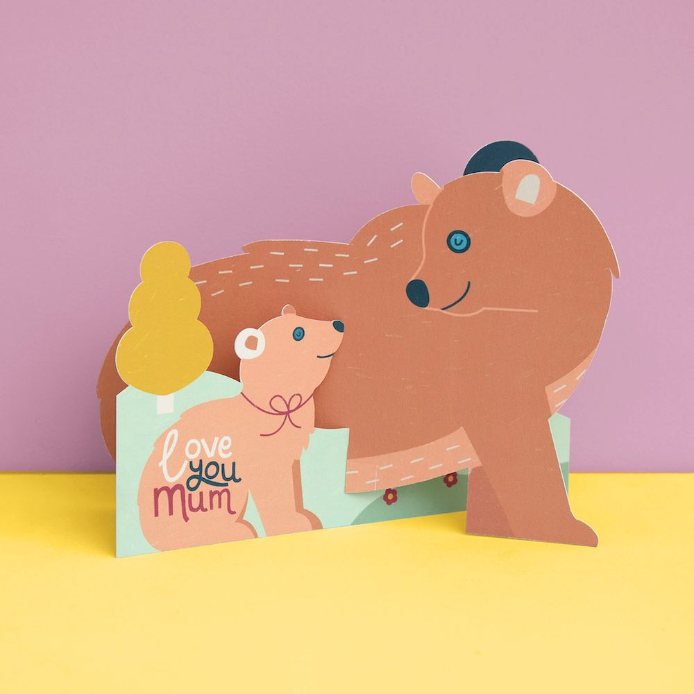 Cute Baby Bear, Fold-out Mothers Days Card