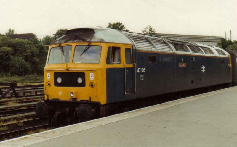 47105 waiting to depart Leicester with 1L93 on 22/6/91  (N Antolic)