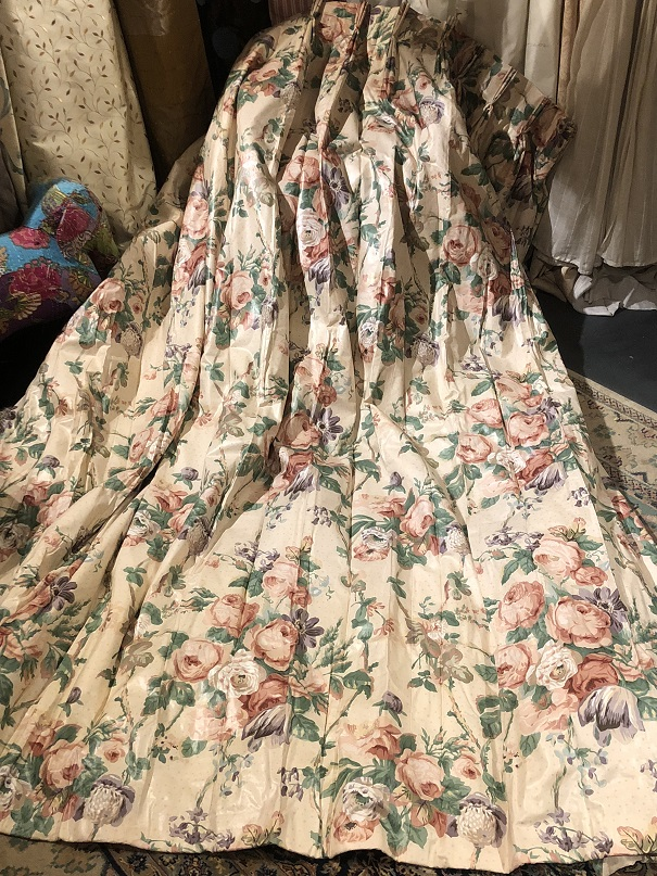 Large Floral Chintz Interlined Curtains W508 D240