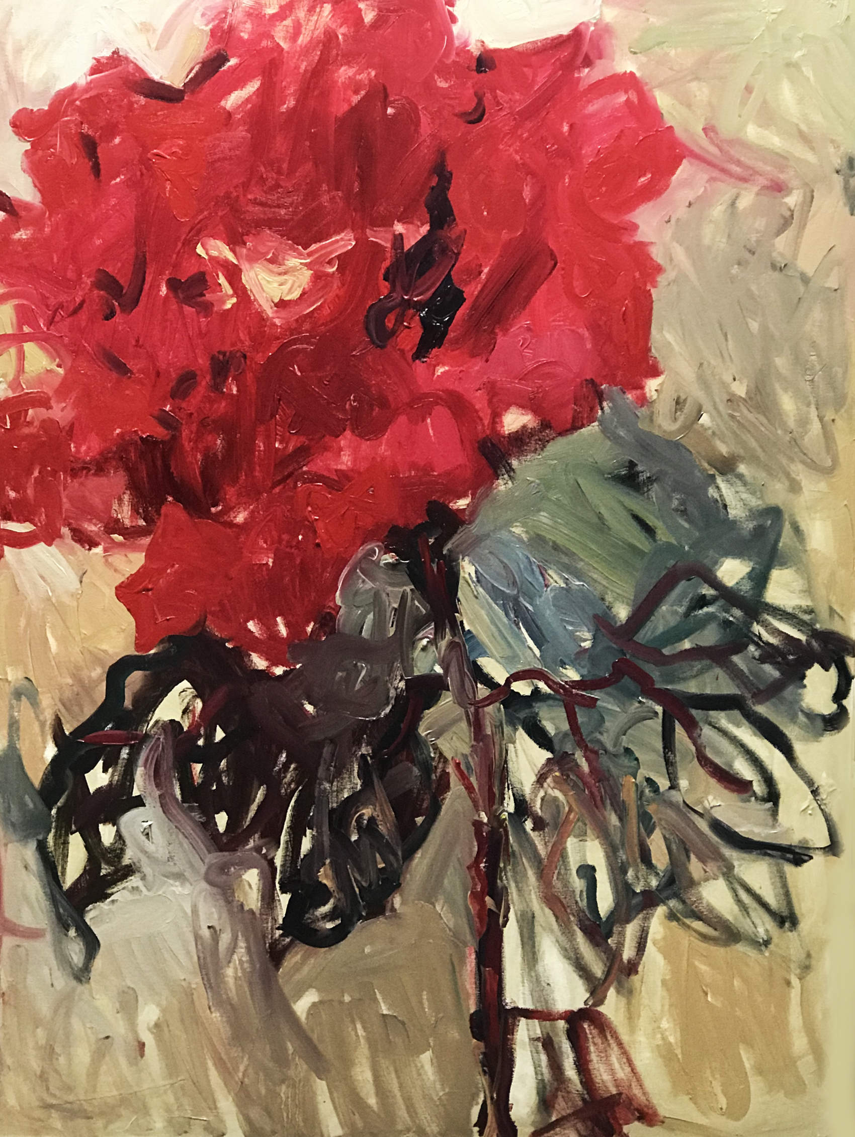 A red, red rose. SOLD