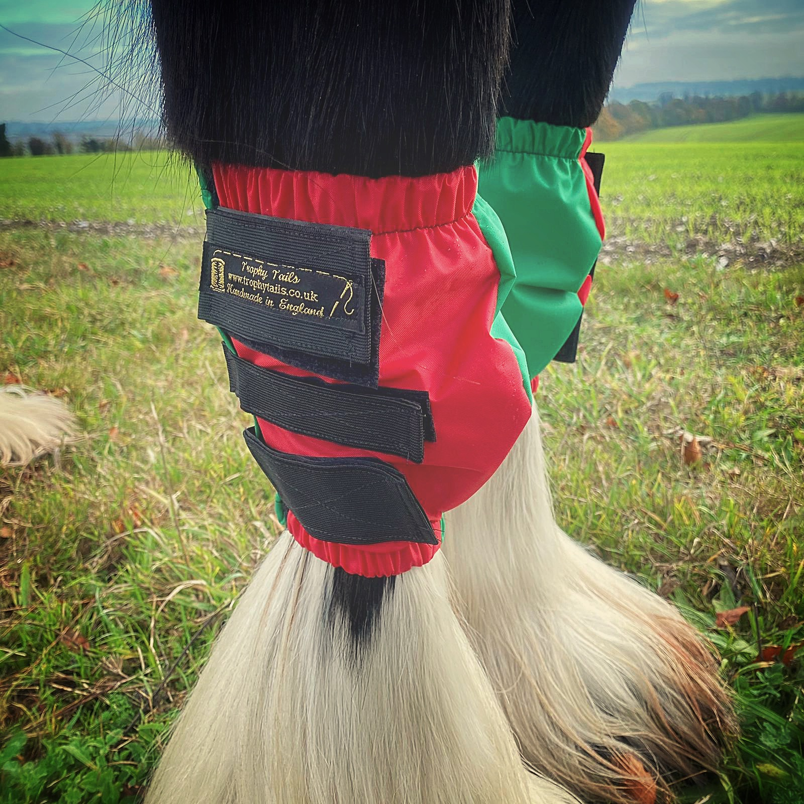 Waterproof Knee Boots - Red and Green
