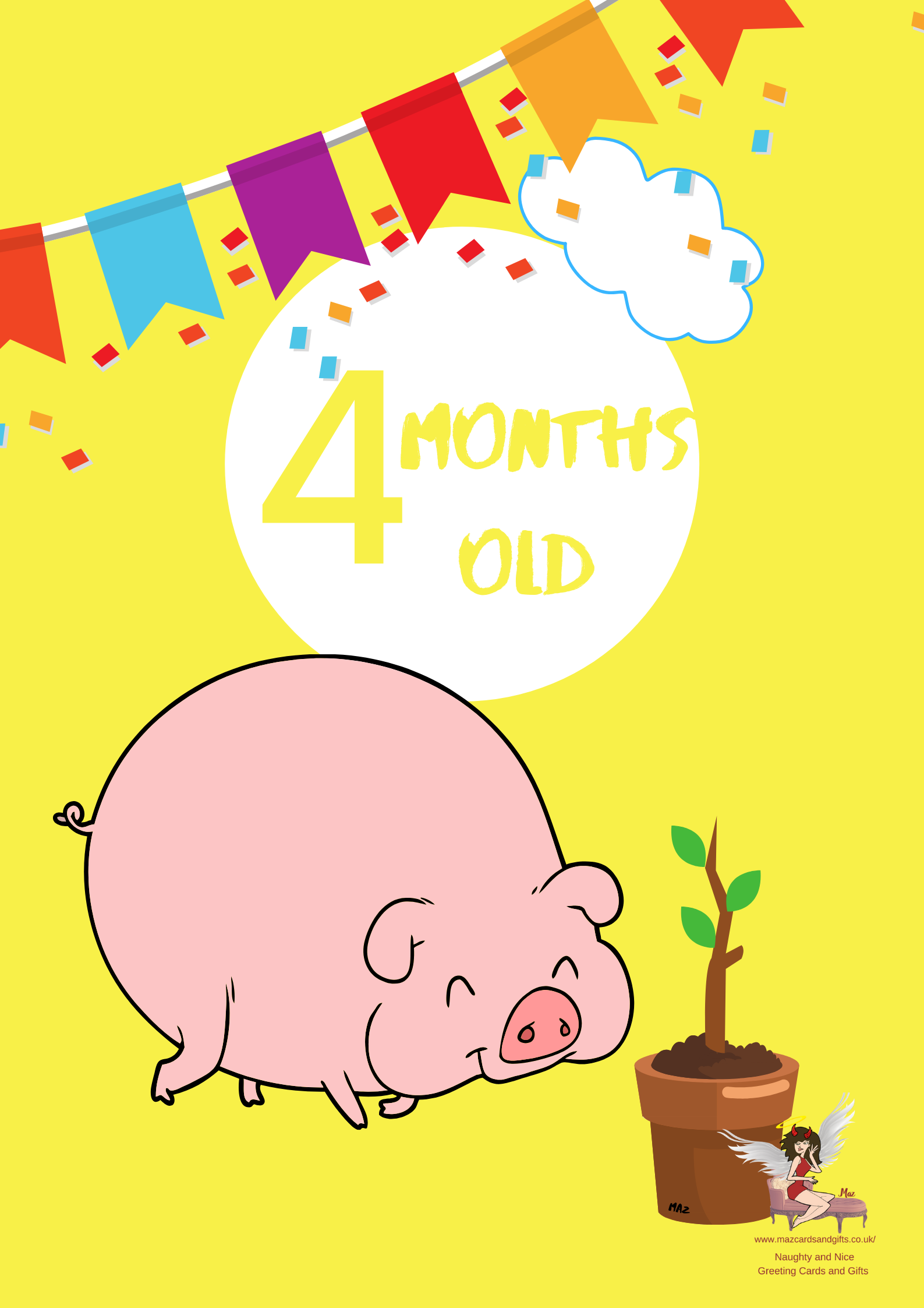 Children's Milestone Cards ~ Animals~ 4 Months old ~ Order No 273