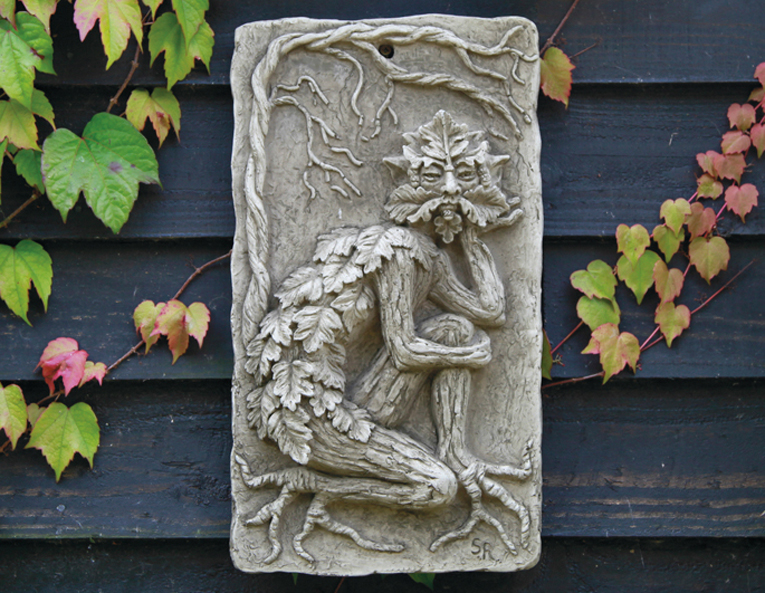 Green Man wall plaque.