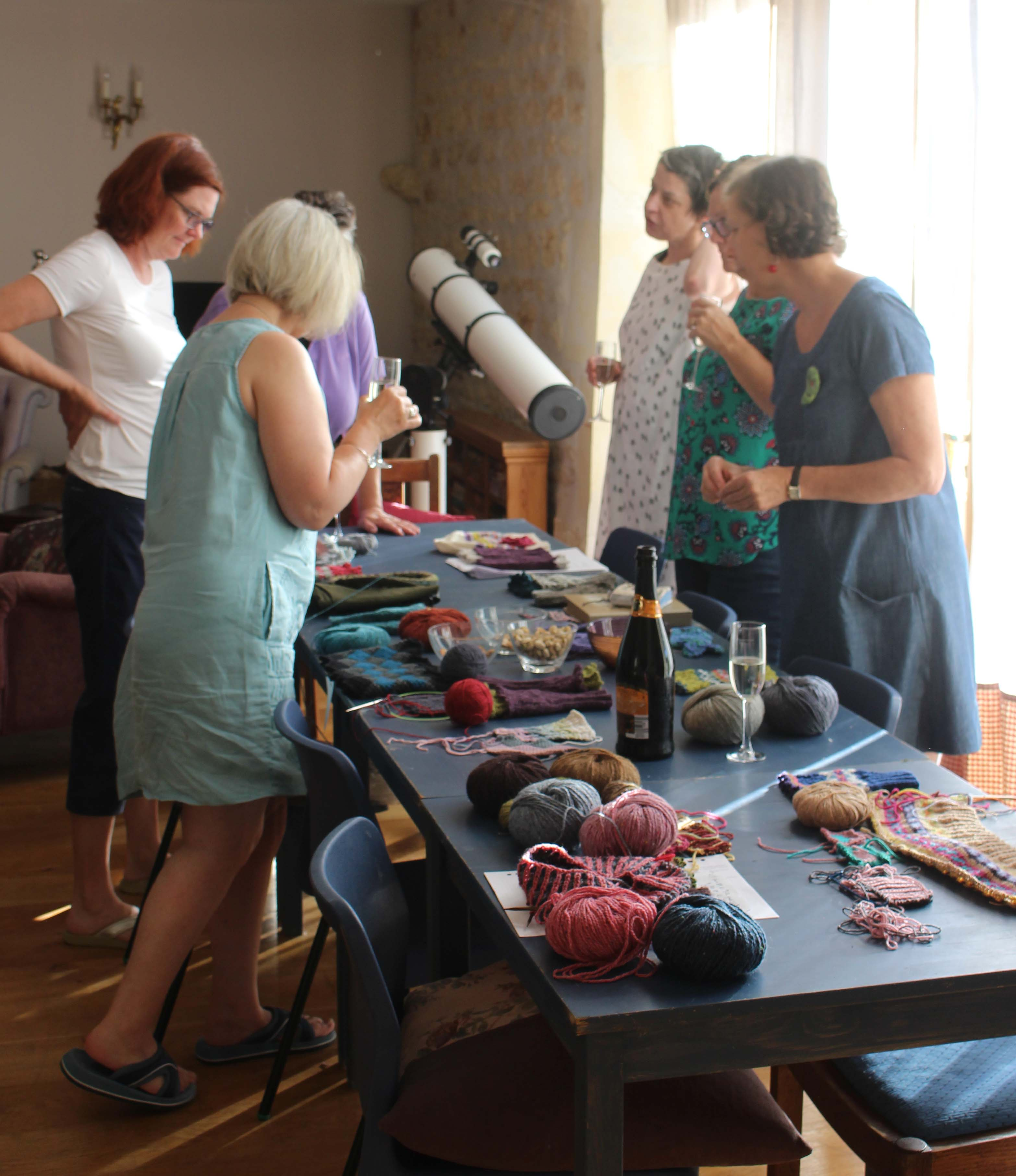 September 2019 knitting and crochet workshop with tutor Carol Meldrum - final day