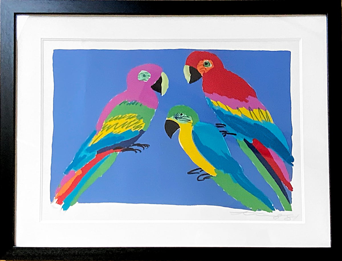 Walasse Ting - Three parrots