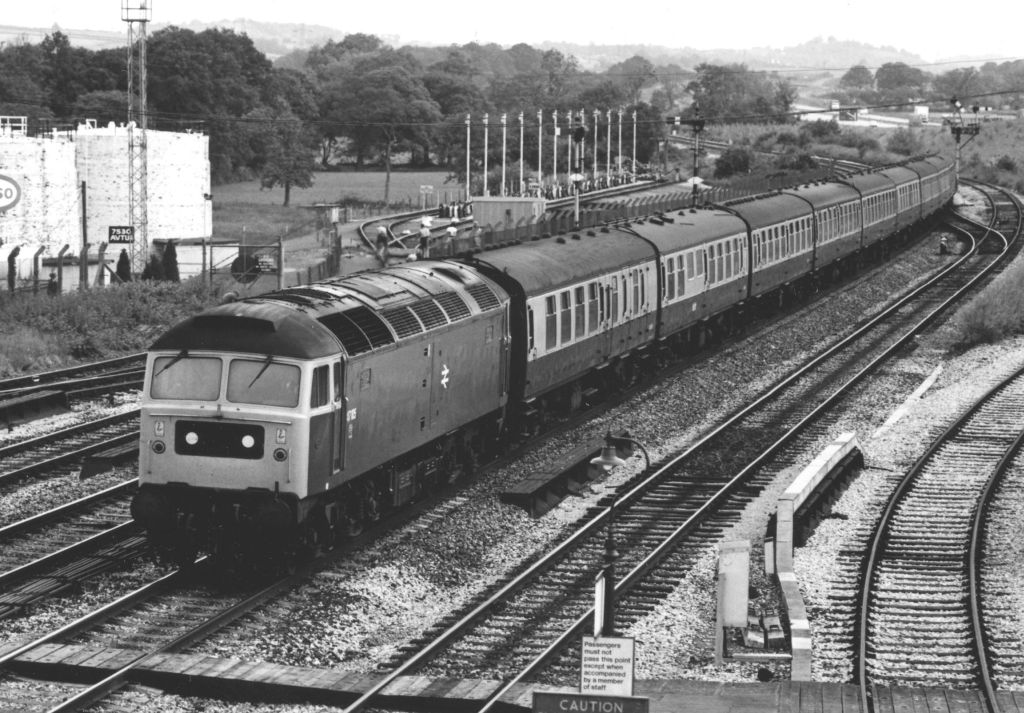 47105 passing Tiverton Junction whilst working 0816 B'Ham New St.-Plymouth on 18/6/81 (C Marsden)