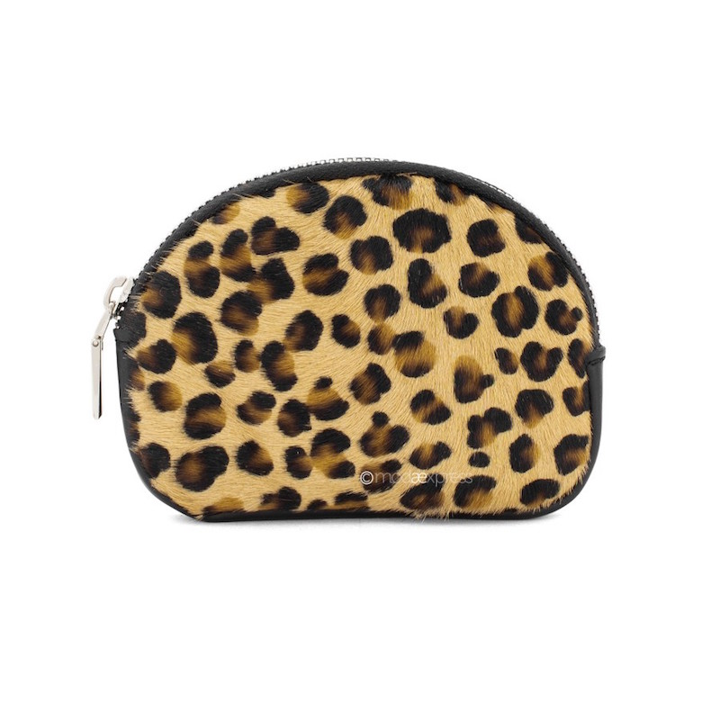 Small Leather Purse with Leopard Print