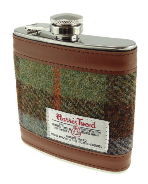 Hip Flask with Harris Tweed in Colour 15 GA005