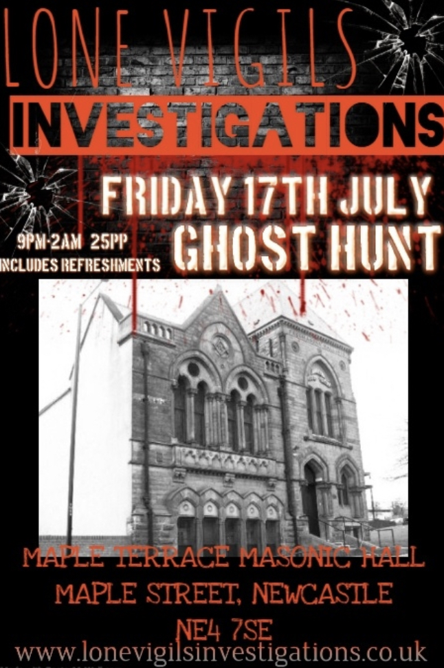Maple Terrace Masonic Hall 9pm-2am Friday 17th July 2020