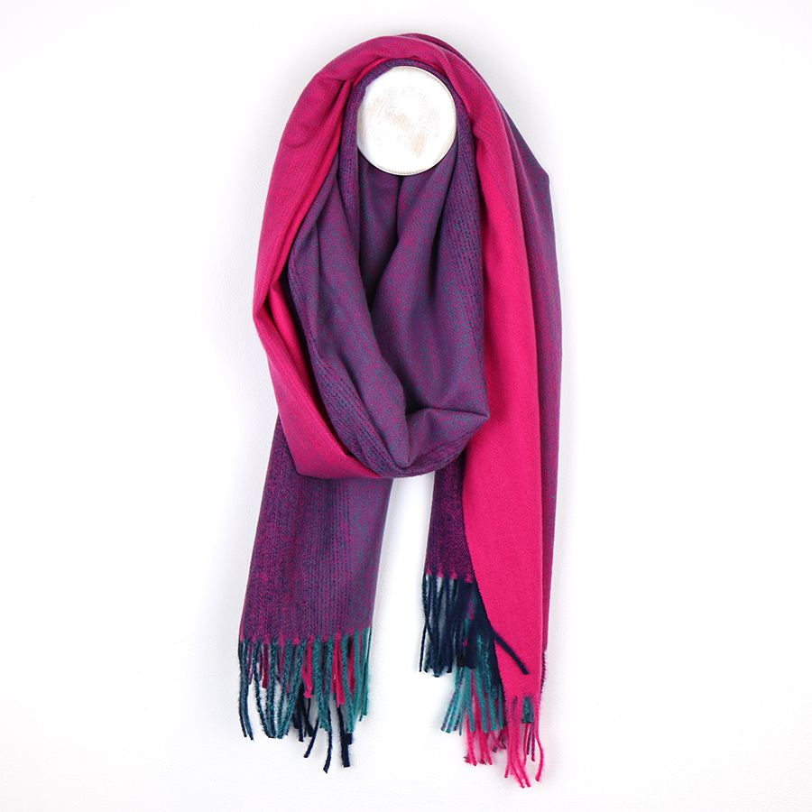 Pink Ombre Scarf with Fringes