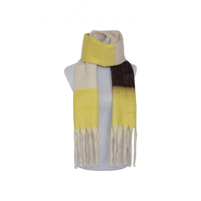 Winter Scarf in Yellow Check
