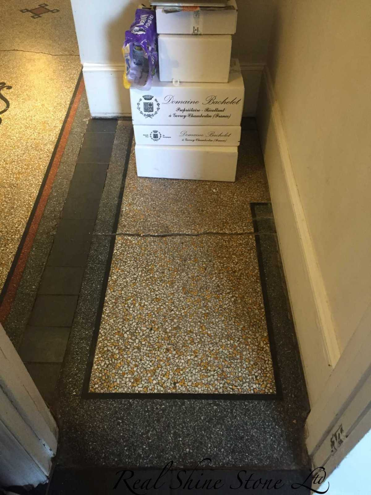 Terrazzo restoration picture before