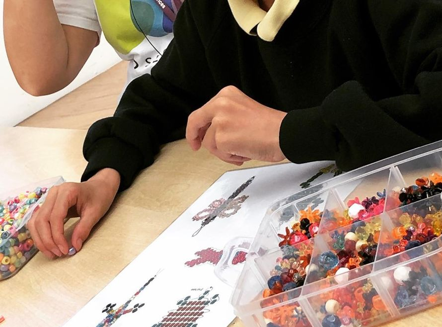 Children's Jewellery Making Workshop run by Akers of Art