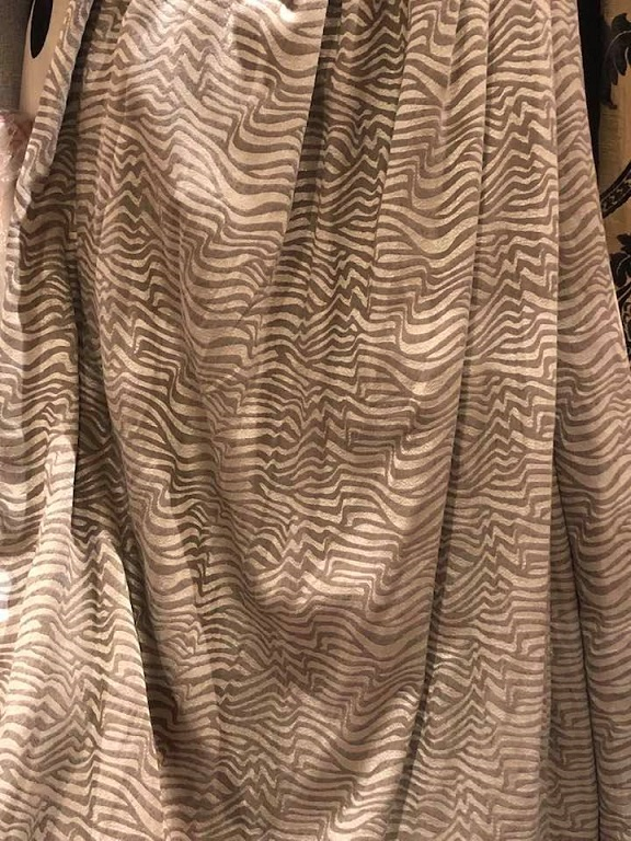 Striking Romo striped Interlined Curtains W224 D221