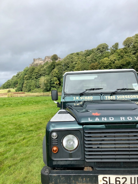 The J R Schad Land Rover at Stirling Castle