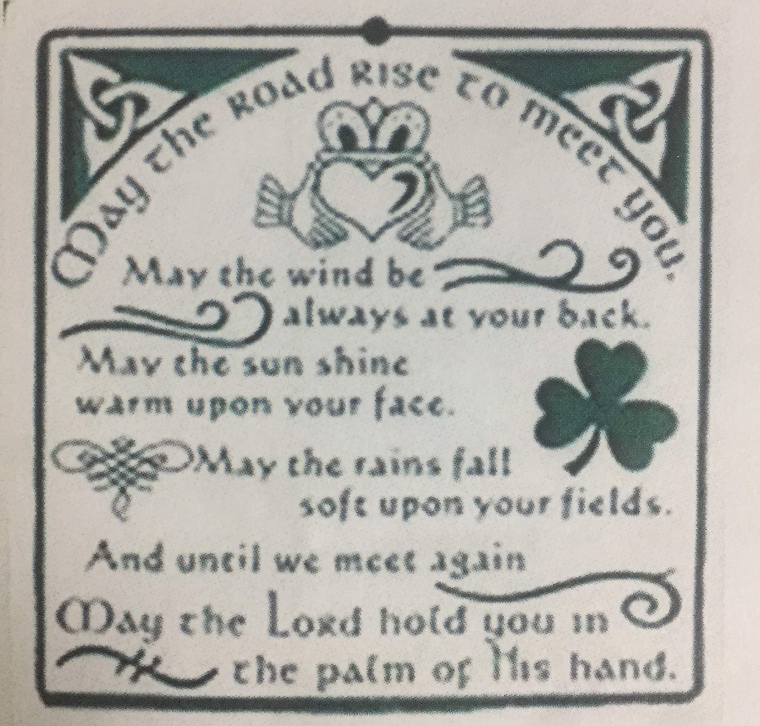 St Patrick's Day 'Blessing' Charm