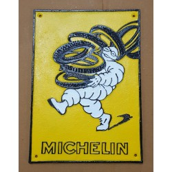 Michelin cast iron wall plaque.
