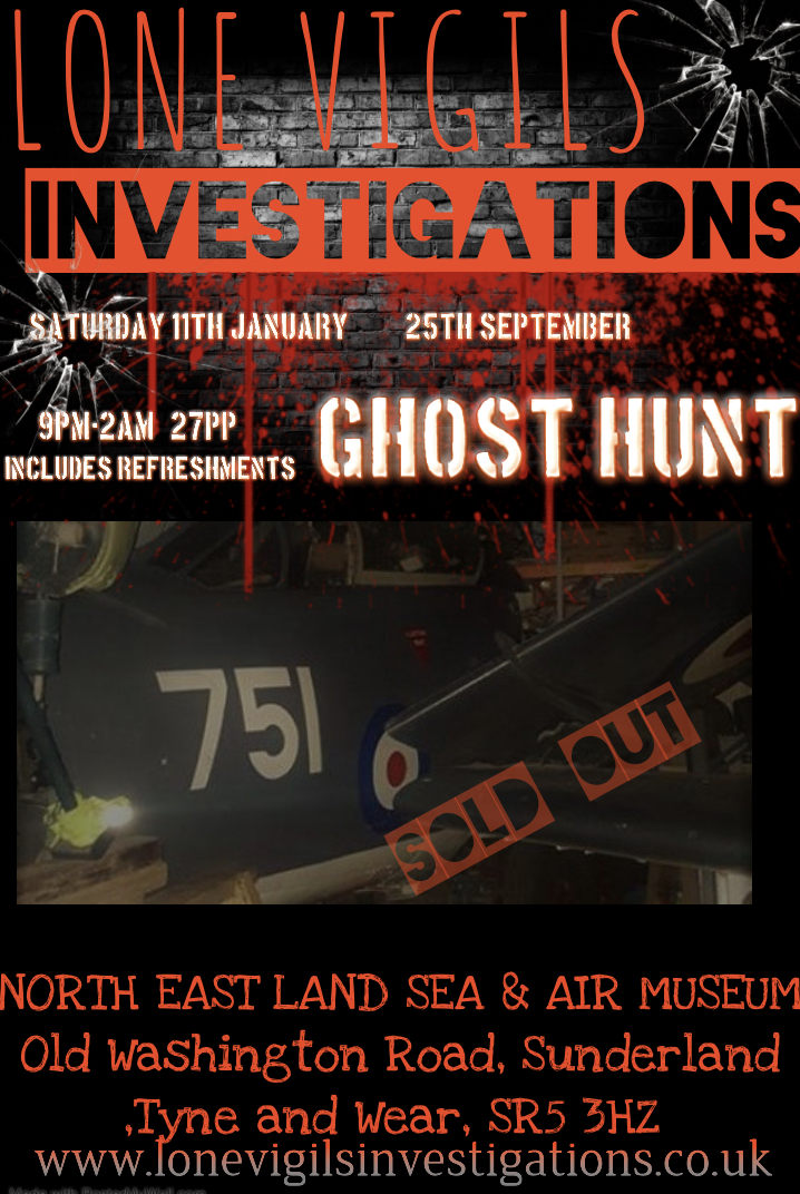 SOLD OUT: North East Land Sea and Air Museum 2020 9pm-2am