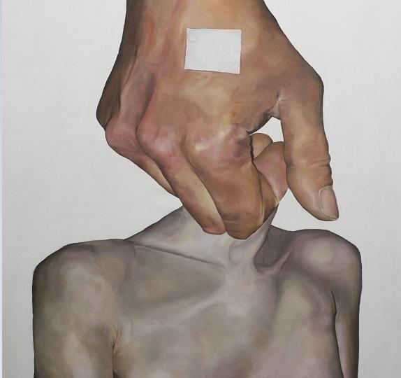 Rue Ruecloud Mind and Matter Oil on Canvas 55 x 55 inches 2016-17 art artist 1jpg
