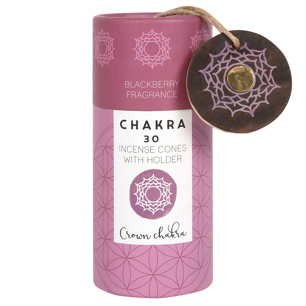 BLACKBERRY CROWN CHAKRA INCENSE CONES