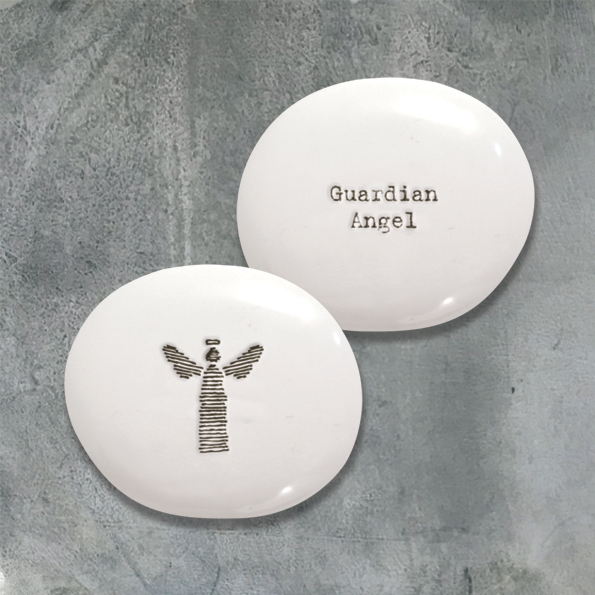 Guardian Angel - Porcelain Pebble