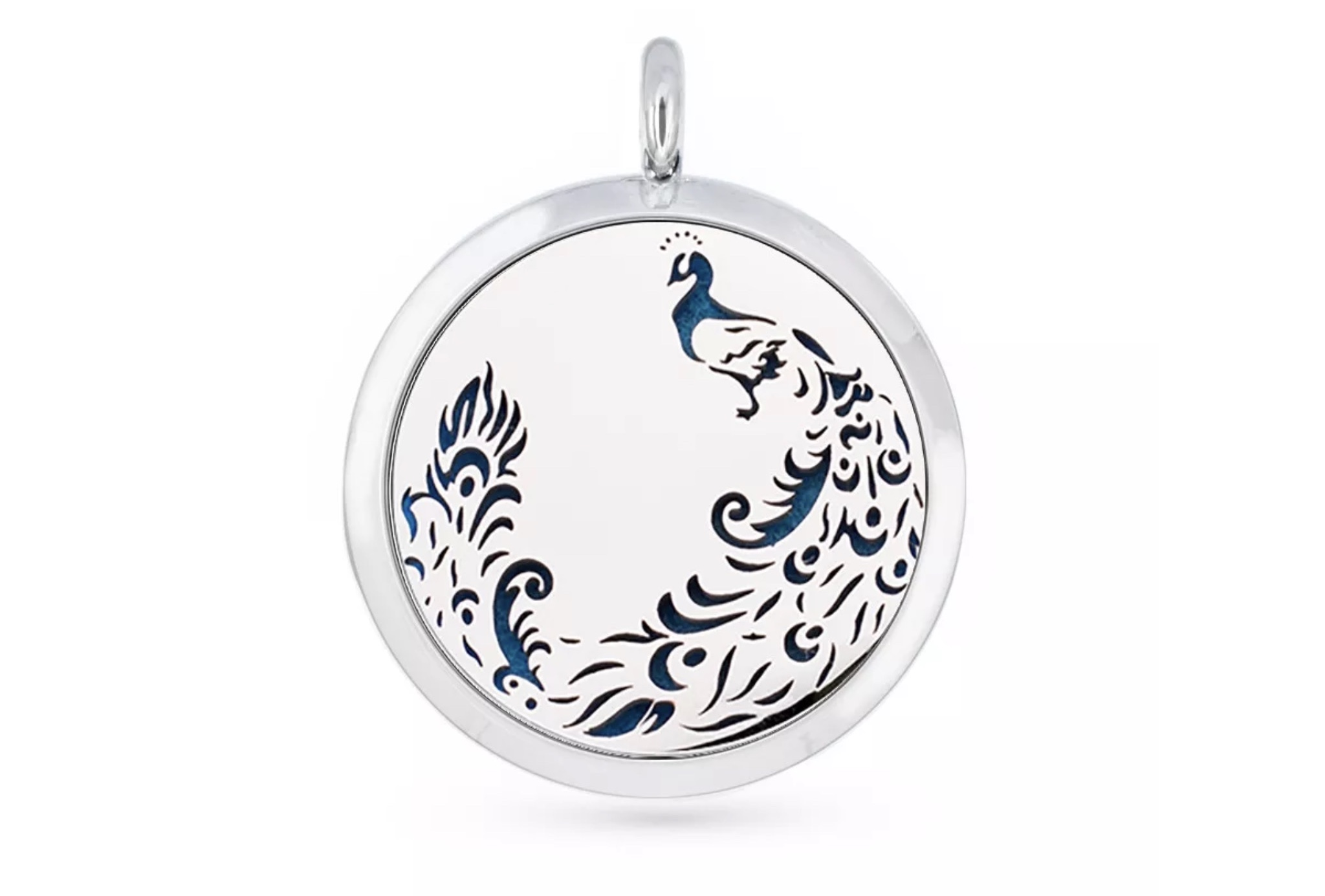 Aromatherapy Diffuser Pendant - Peacock - 30mm