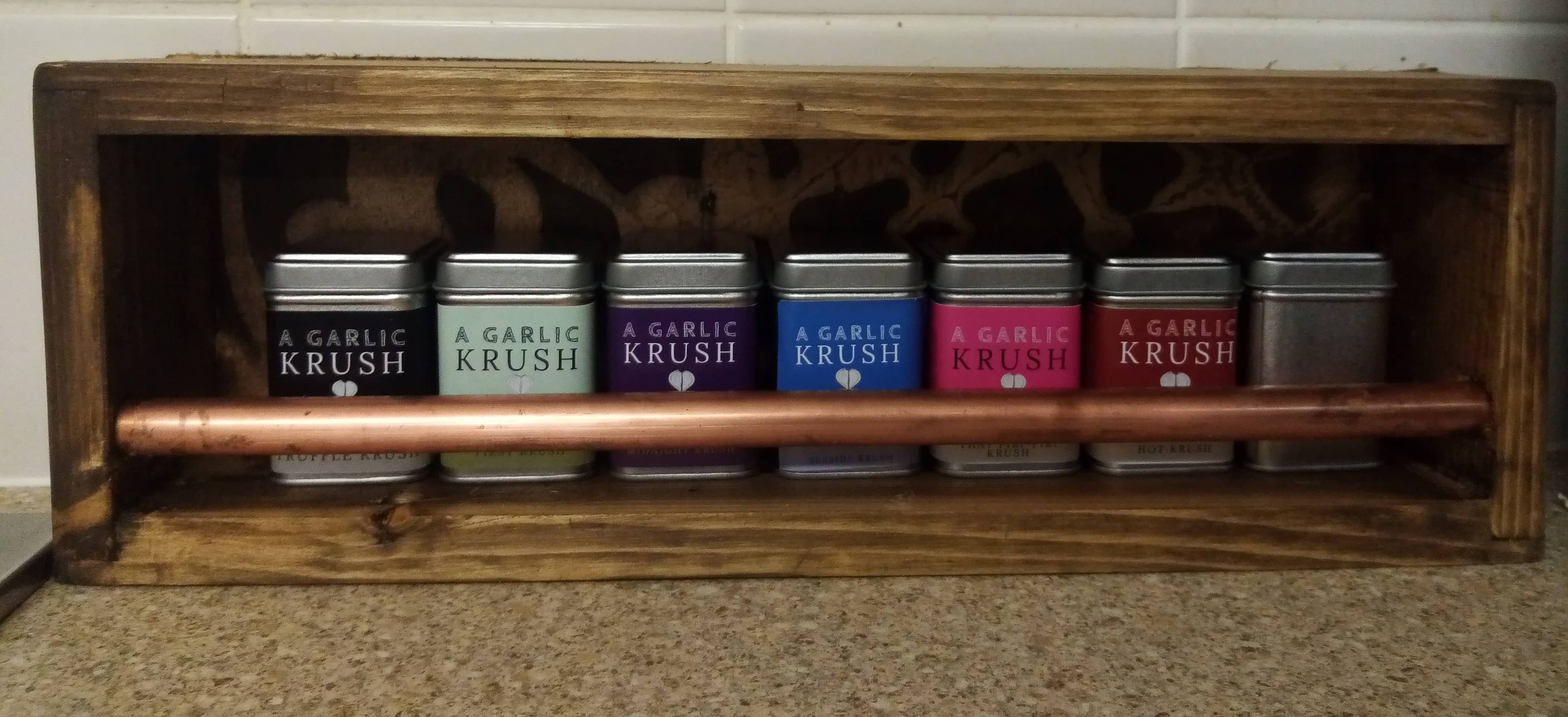 Garlic Krush spice rack set