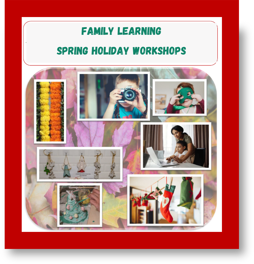 Family Learning Holiday Workshops. Click to view brochure. Opens in a new window.