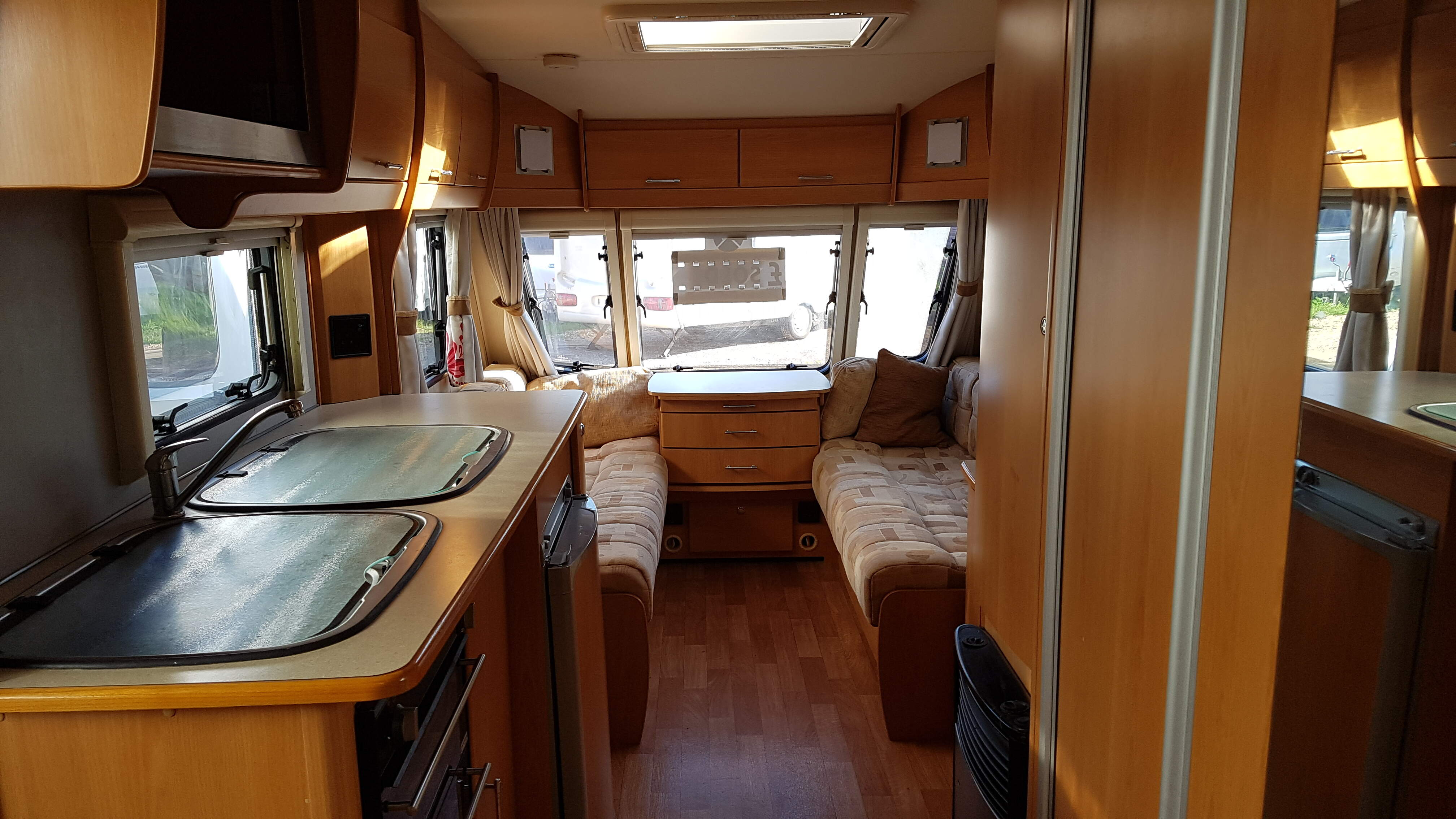NOW SOLD 2009 Compass Corona 505 5 berth Caravan with Motor Mover
