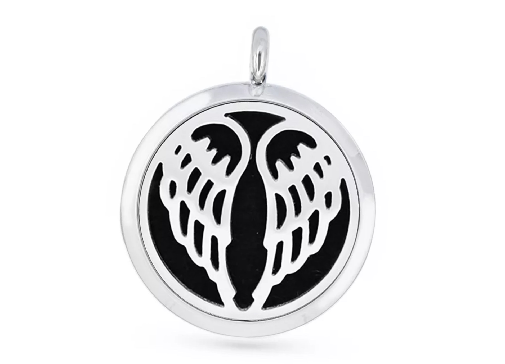 Aromatherapy Diffuser pendant - Angel wings 30mm