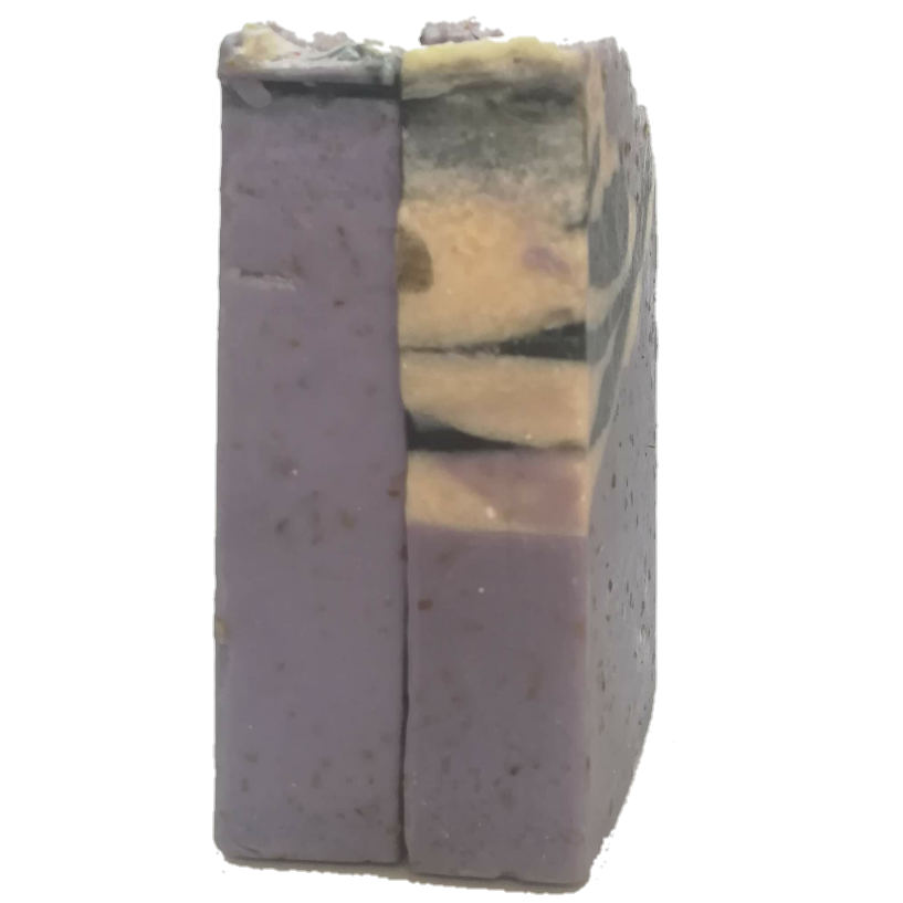 Zebra Lavender Soap with Oatmeal and Yoghurt. Vegetarian