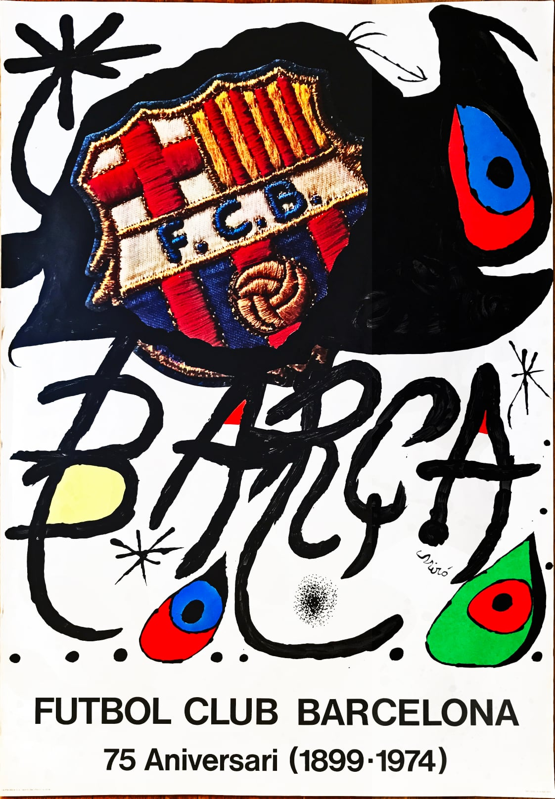 Joan Miro - Poster for the 75th Anniversary of the Barcelona Football Club