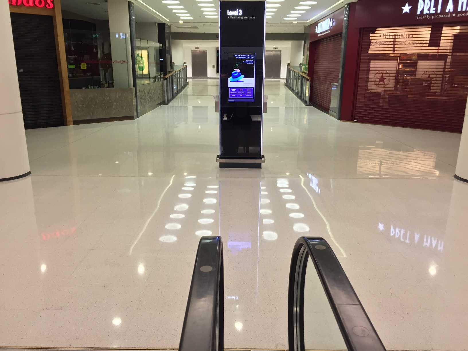 terrazzo maintenance shopping centre