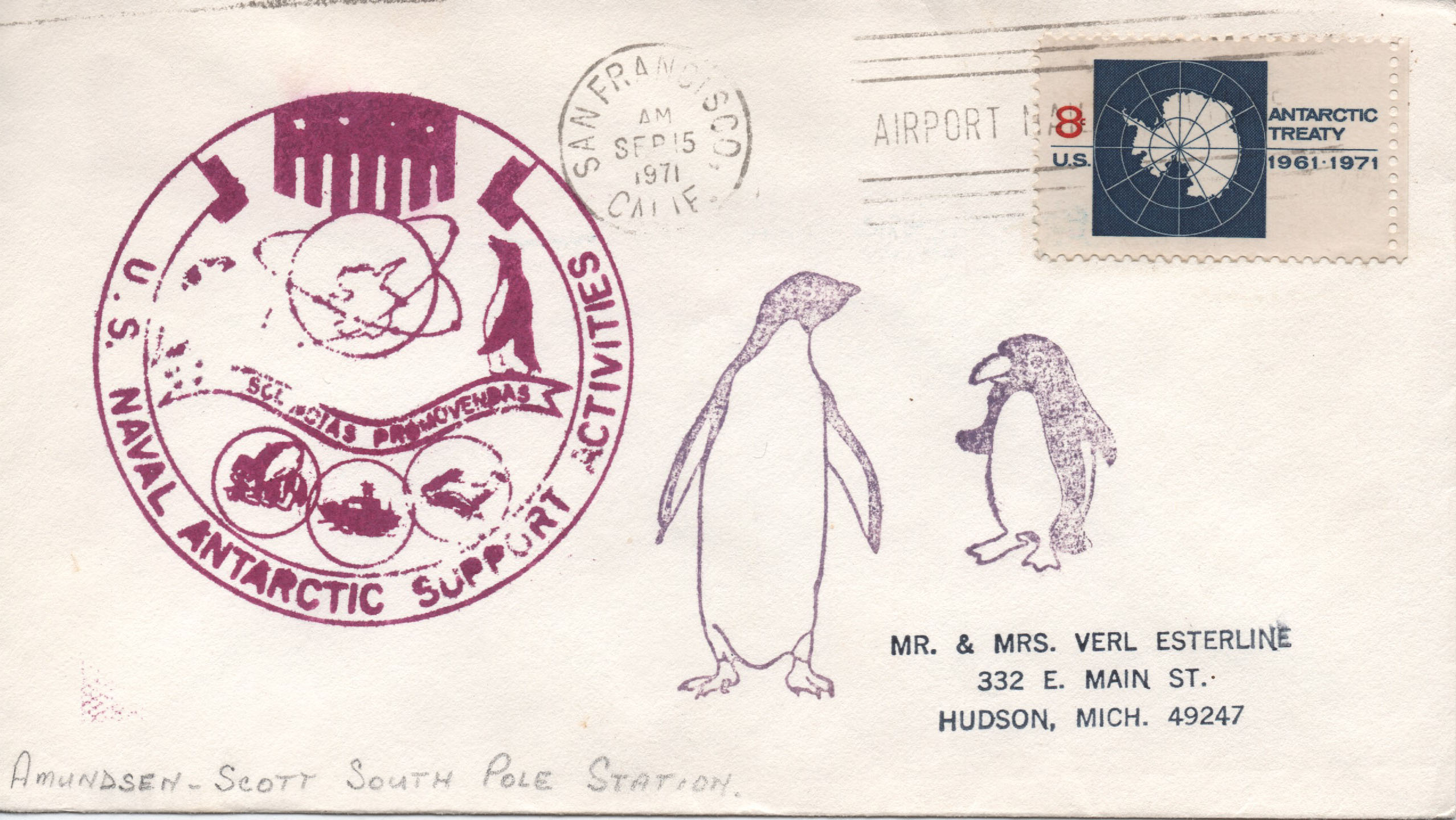 US Naval Antarctic Support Amundsen South Pole
