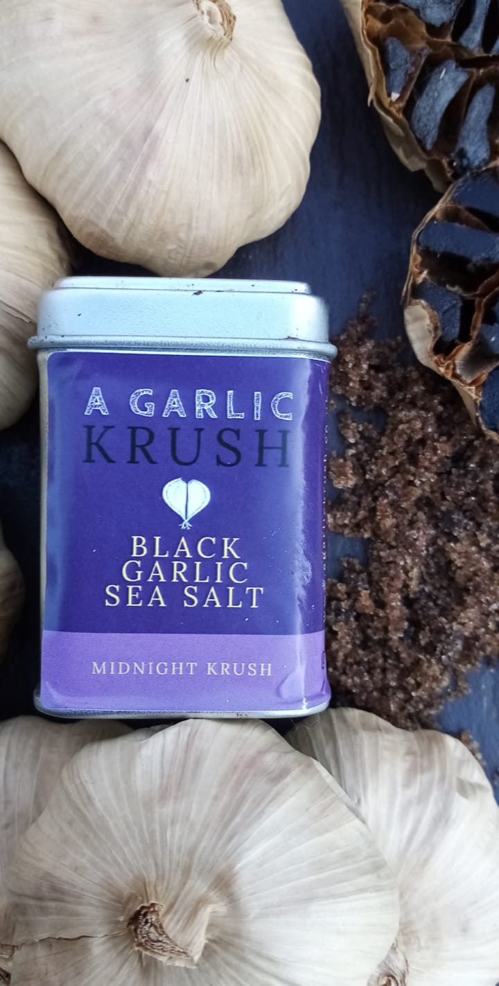 Black Garlic Sea Salt. Midnight Krush