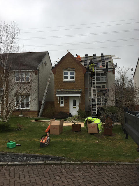 Full roof replacement in West Kilbride, North Ayrshire