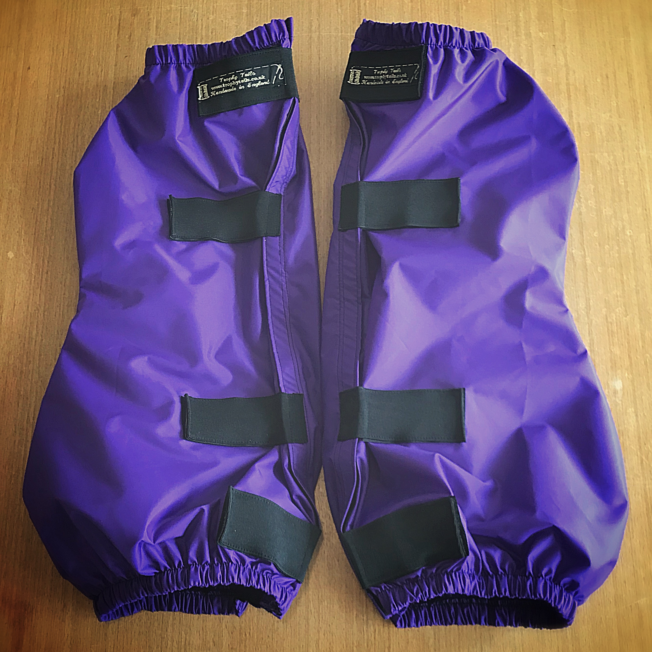 Waterproof Feather Boot Hock/Back Set - Purple