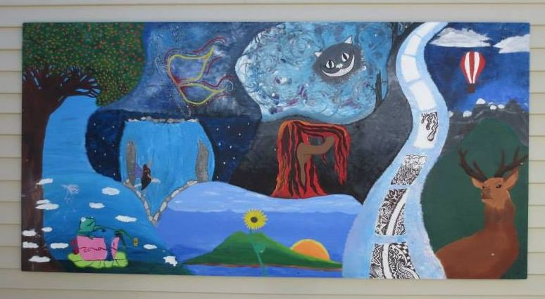 Mural Painted by 10 Secondary School GCSE students