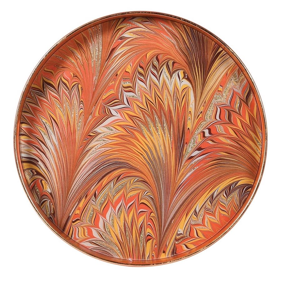 Marbled Orange Tray