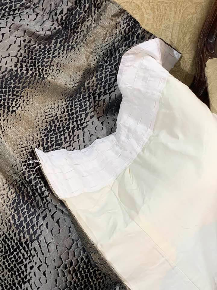 Contemporary Snake Skin Pencil Pleat Curtains W135 D230