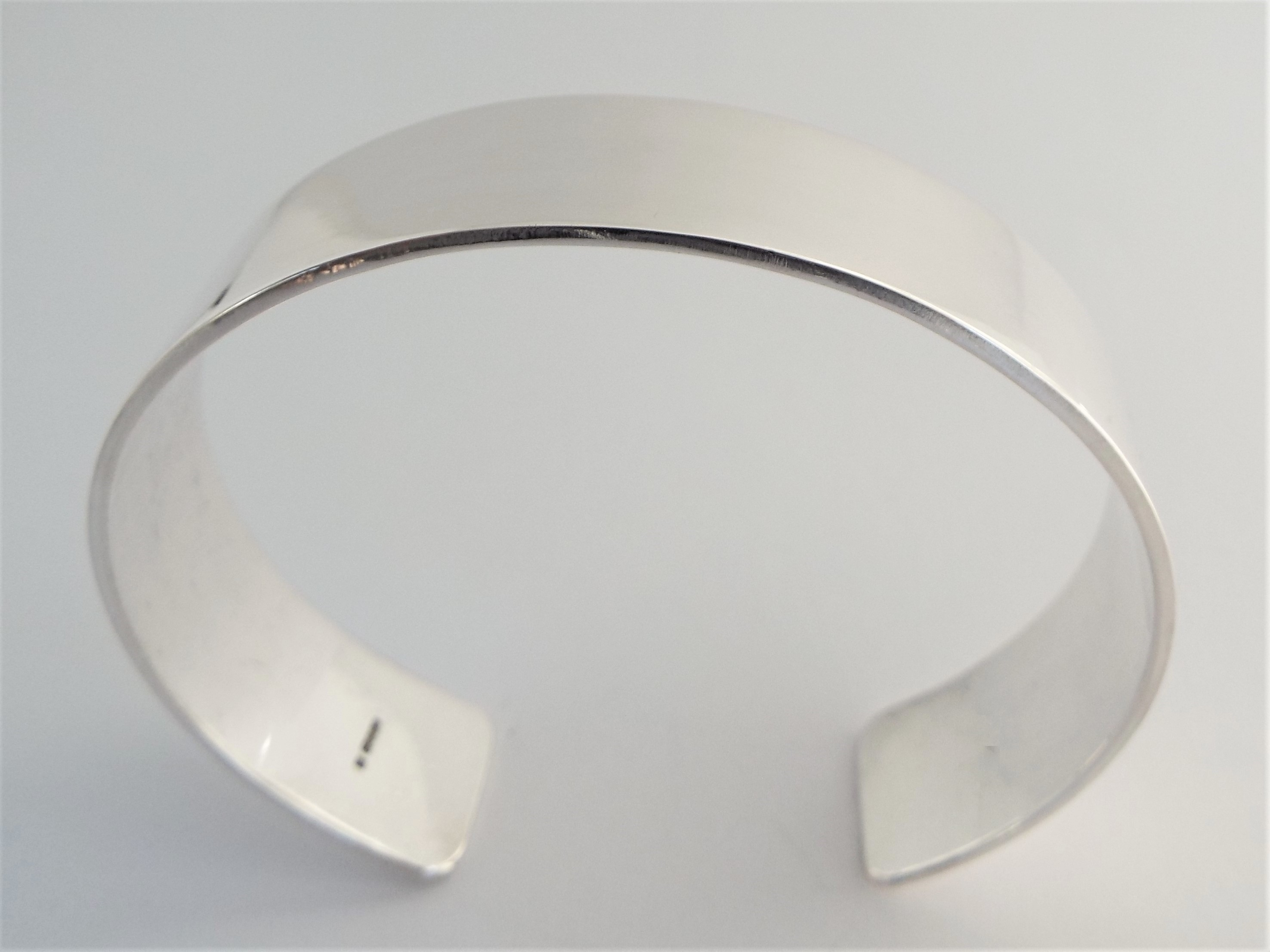 Solid Silver Cuff Bracelet - 15mm wide polished finish