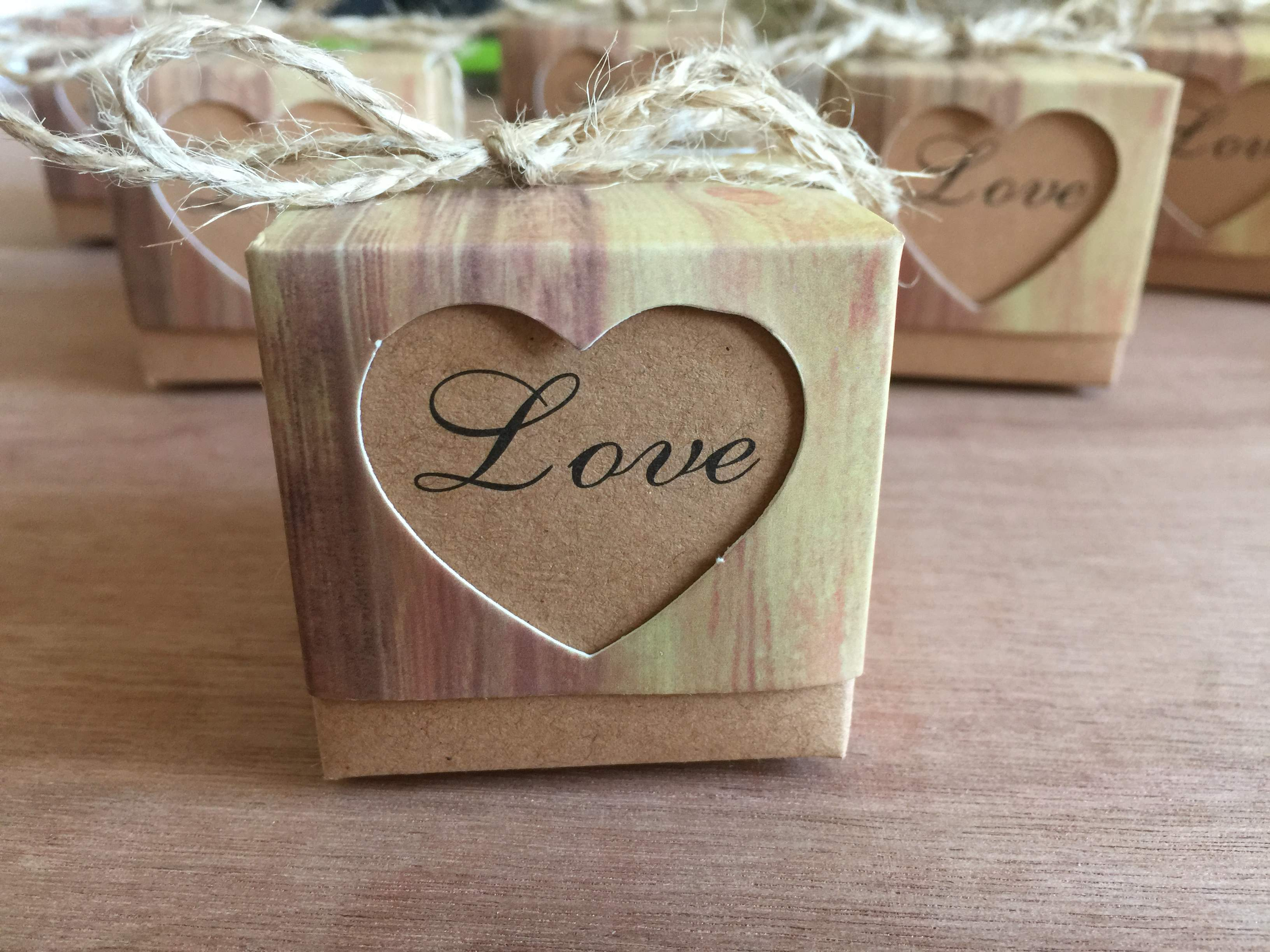 "Rustic ""Love"" Favour Boxes"