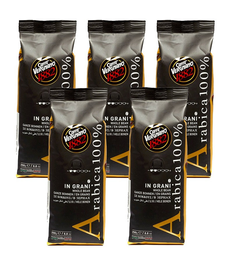 5 x Coffee beans 100% Arabica 250g