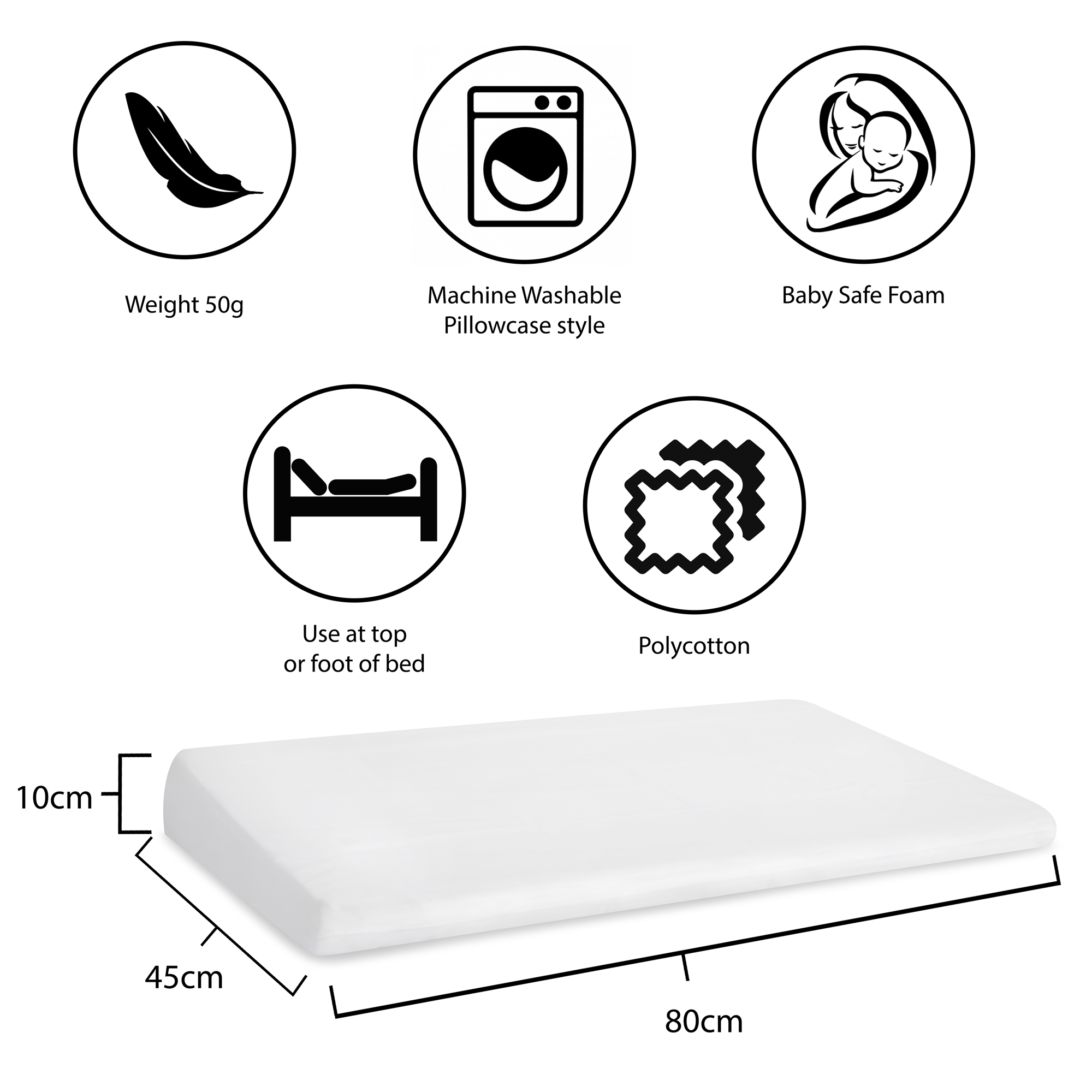 Assisted Living Mattress Wedge With Cover