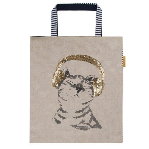 Sequin Shopper with Cat - Product Code ARTE002