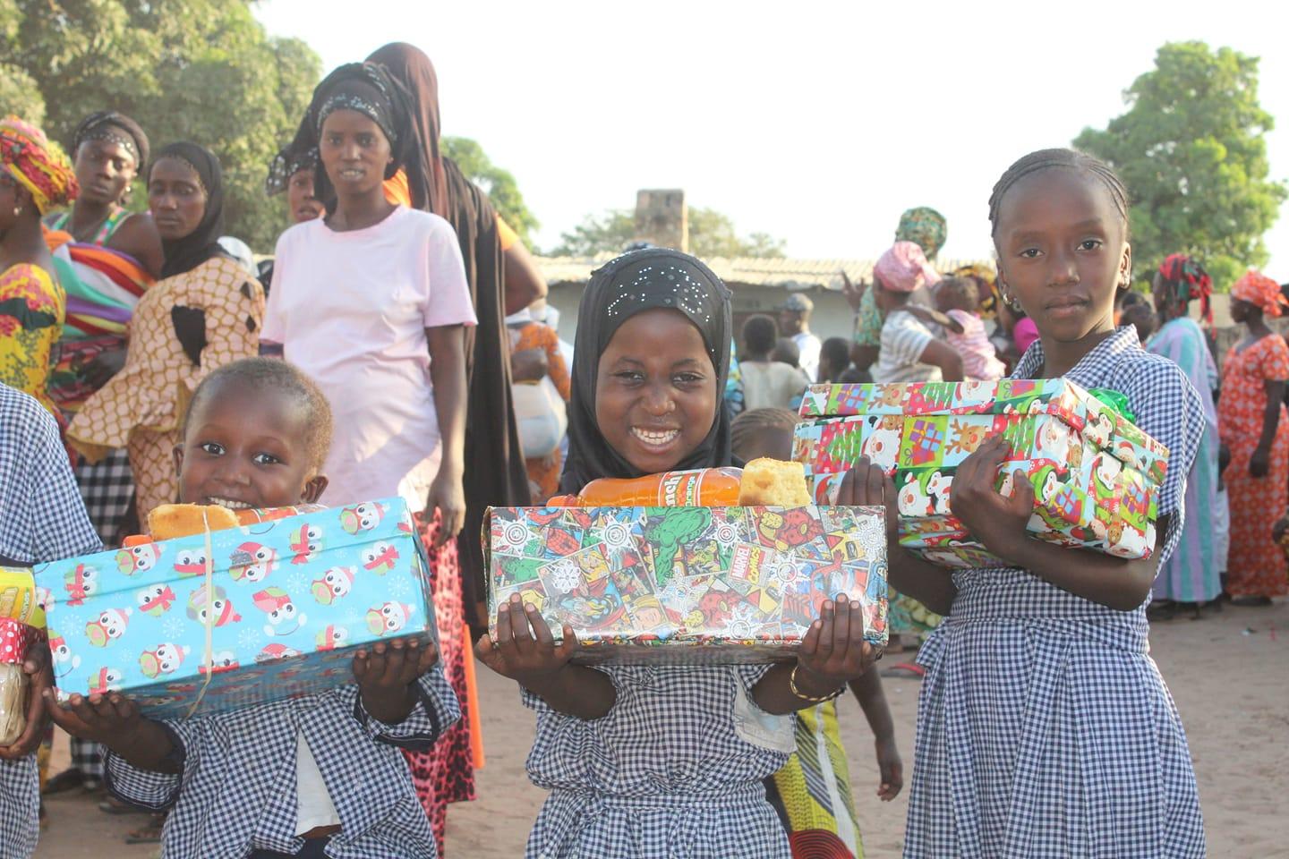 Some of our girls with their gifts at the last Siiboo Day