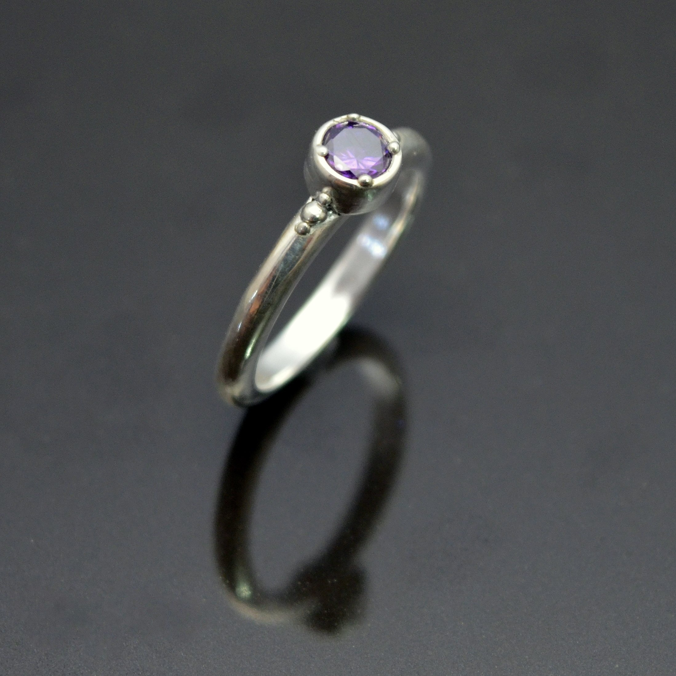 Amour Amethyst Ring by Tracey Spurgin of Craftworx Jewellery Workshops