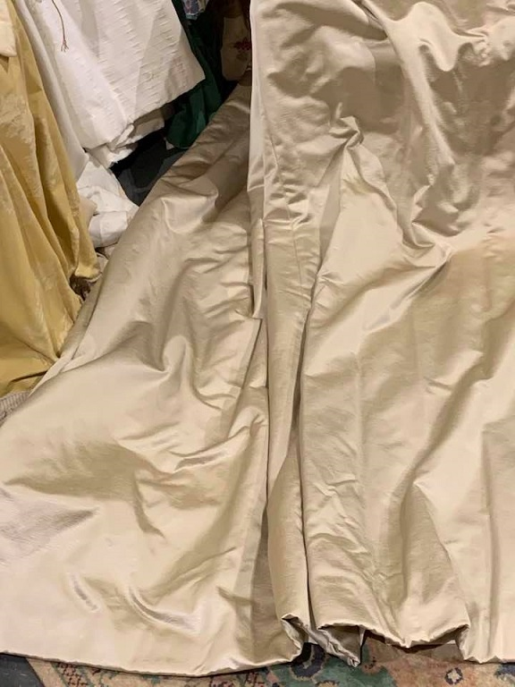 New Large Light Gold Pencil Pleat Curtains W399 D236