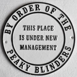 Cast iron Peaky Blinders wall plaque